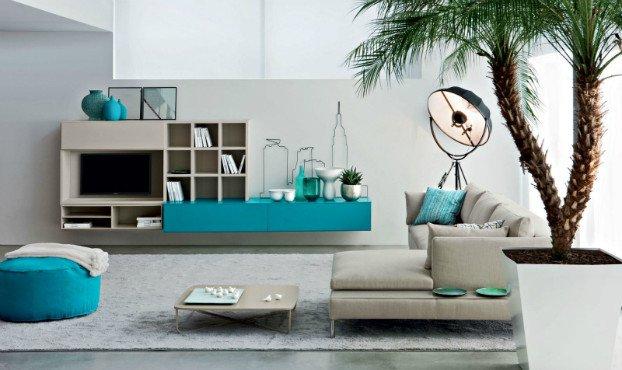 Contemporary Living Room Turquoise Living Room Design Ideas by Novamobili Decoholic