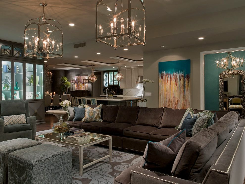 Contemporary Living Room Turquoise Turquoise Gold Living Room Contemporary with Abstract Art