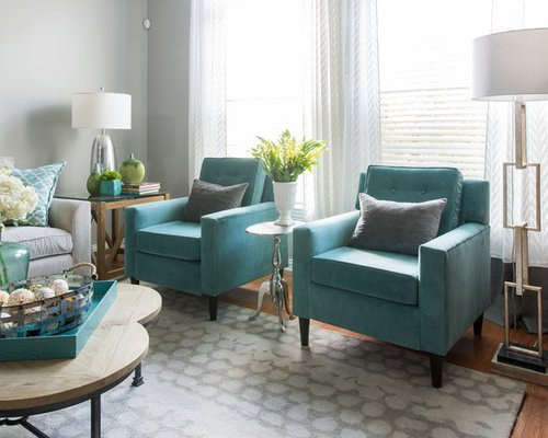 Contemporary Living Room Turquoise Turquoise Living Room Design Ideas Renovations & S