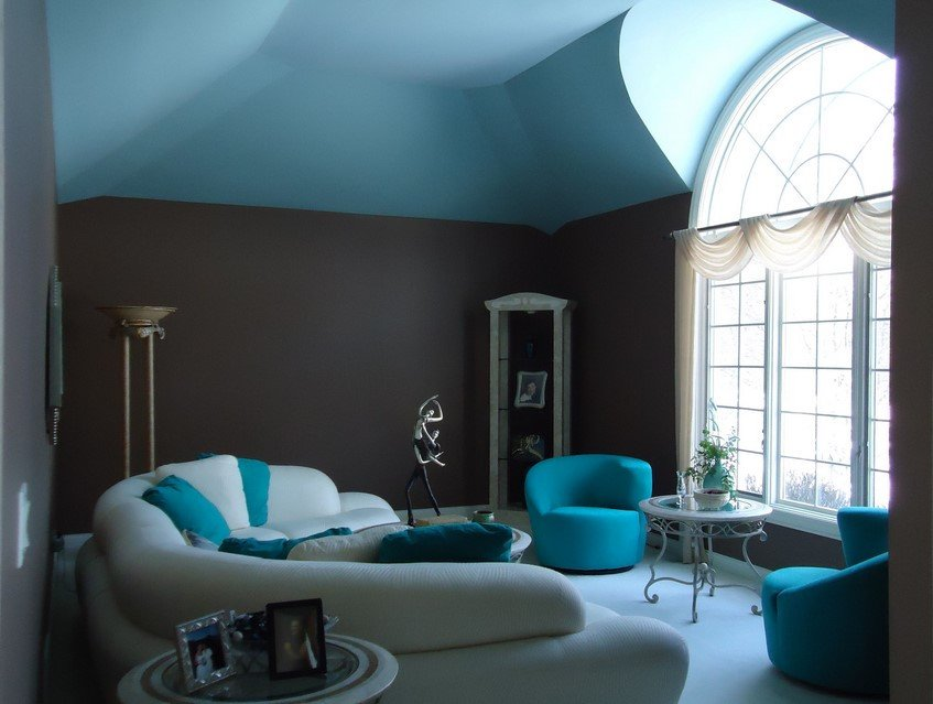 Contemporary Living Room Turquoise Turquoise Room Decorations Colors Of Nature & Aqua Exoticness