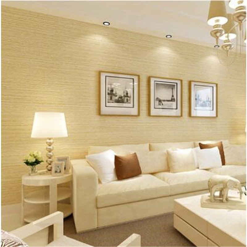 Contemporary Living Room Wallpaper Beibehang New Striped Wallpaper Bedroom Pure Color Plain