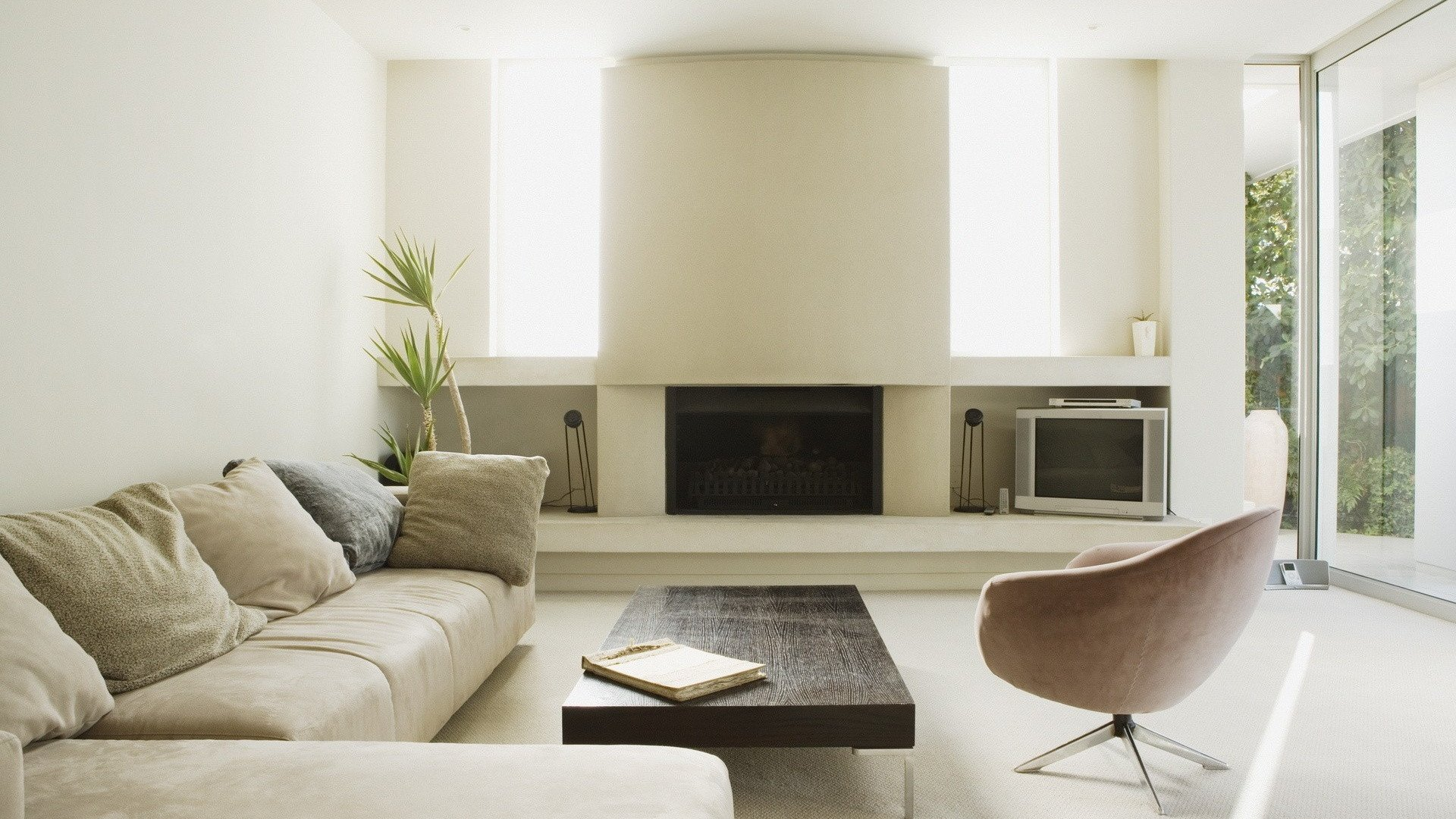 Contemporary Living Room Wallpaper Clean and Modern Living Room Desktop Pc and Mac