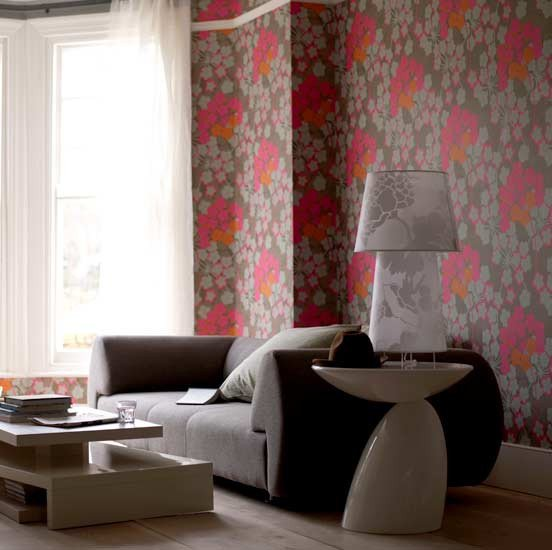 Contemporary Living Room Wallpaper Spring Into Floral Prints – Allentown Apartments