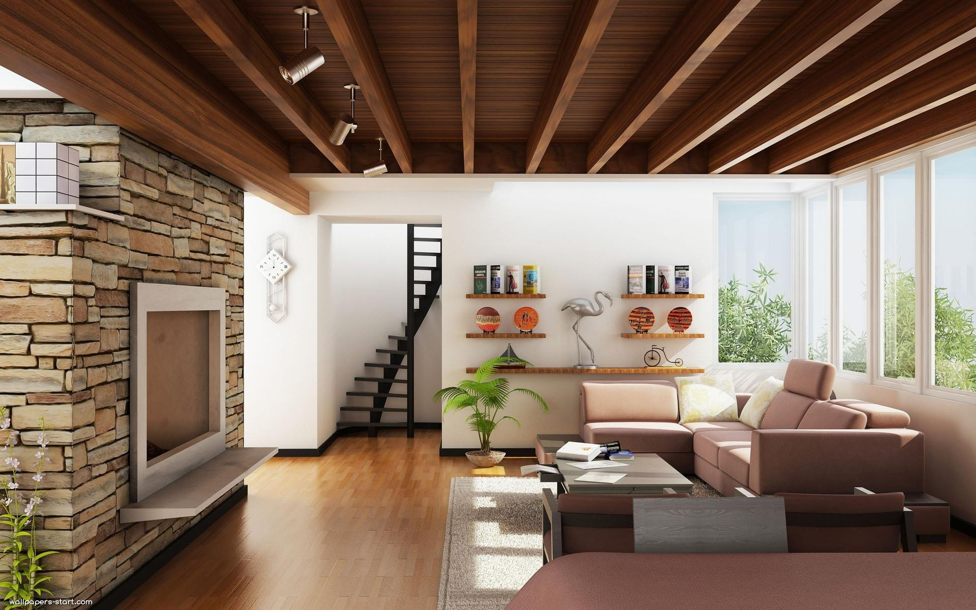 Contemporary Living Room Wallpaper Wallpapers for Living Room Design Ideas In Uk