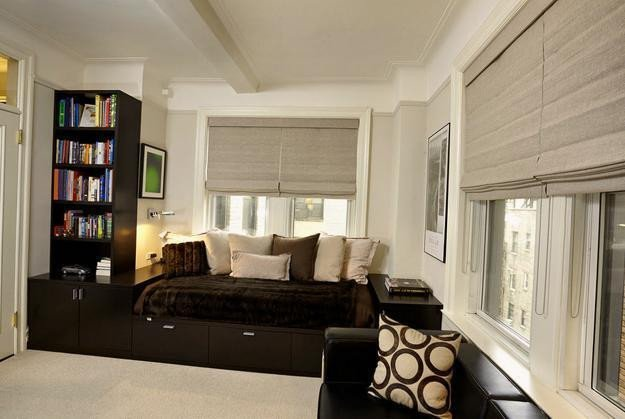 Contemporary Living Room Window Treatments 25 Roman Shades and Curtain Ideas to Harmonize Modern