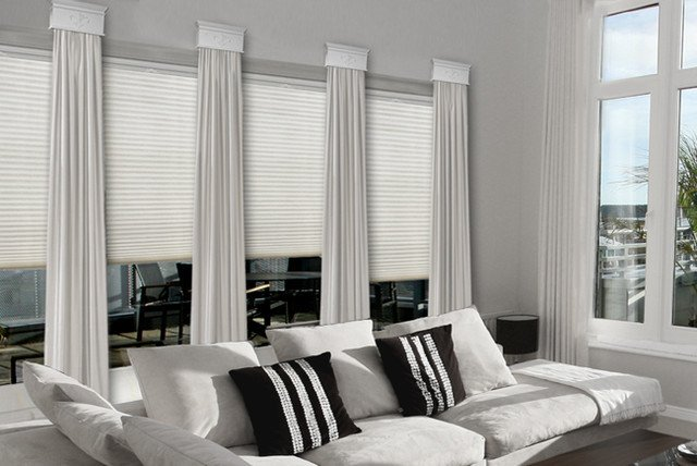 Contemporary Living Room Window Treatments Contemporary Cornice Window Treatments