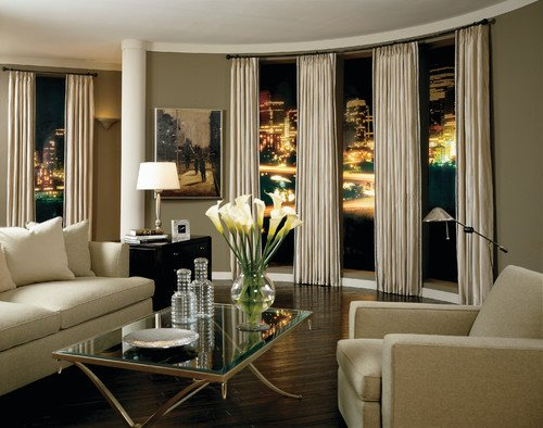 Contemporary Living Room Window Treatments Current Trends In Window Treatments Home Interior Design