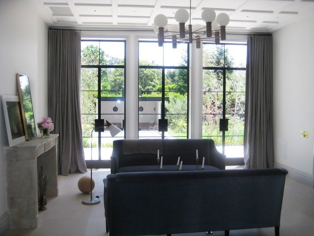 Contemporary Living Room Window Treatments Window Treatments Modern Living Room Los Angeles