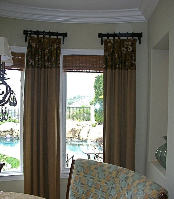 Contemporary Living Room Window Treatments Window Treatments