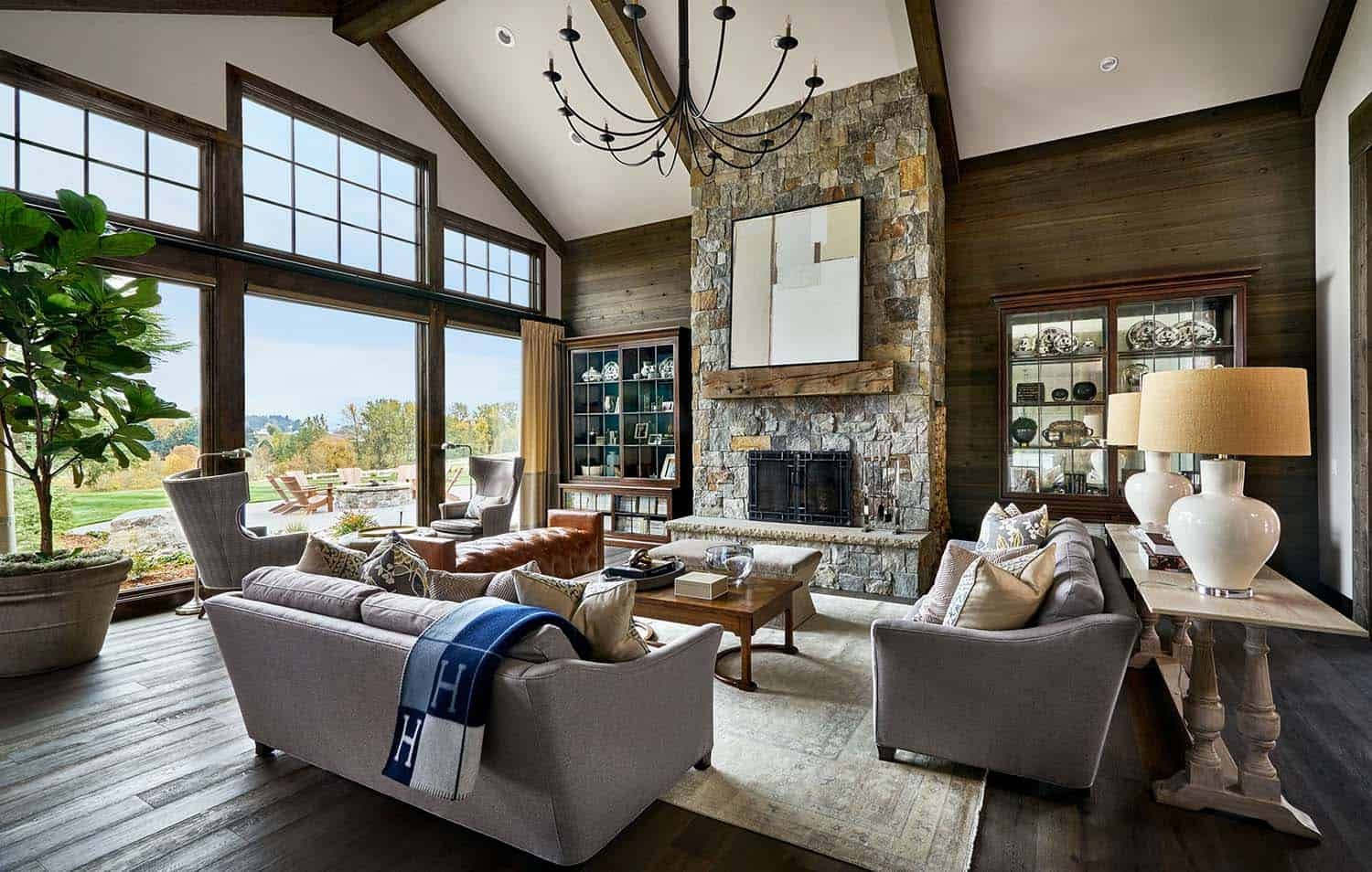 Contemporary Rustic Living Room Contemporary Rustic Farmhouse with Stunning Living Spaces
