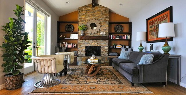 Contemporary Rustic Living Room Malibu Rustic Modern Ranch House Rustic Living Room