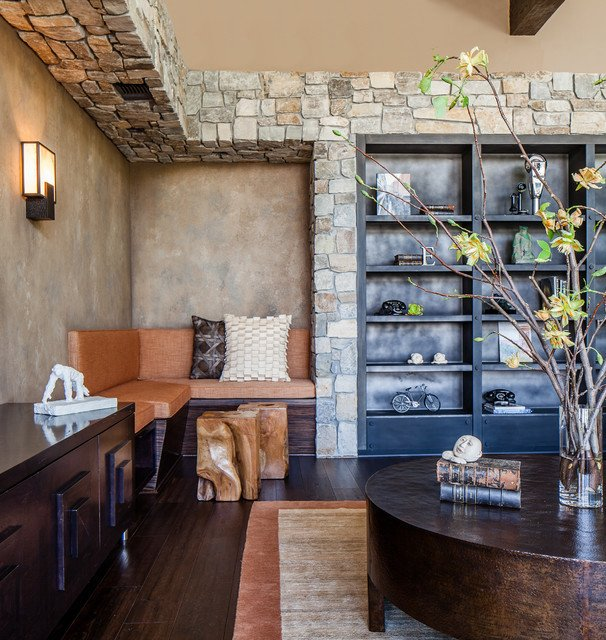 Contemporary Rustic Living Room Modern Rustic Contemporary Living Room San Francisco