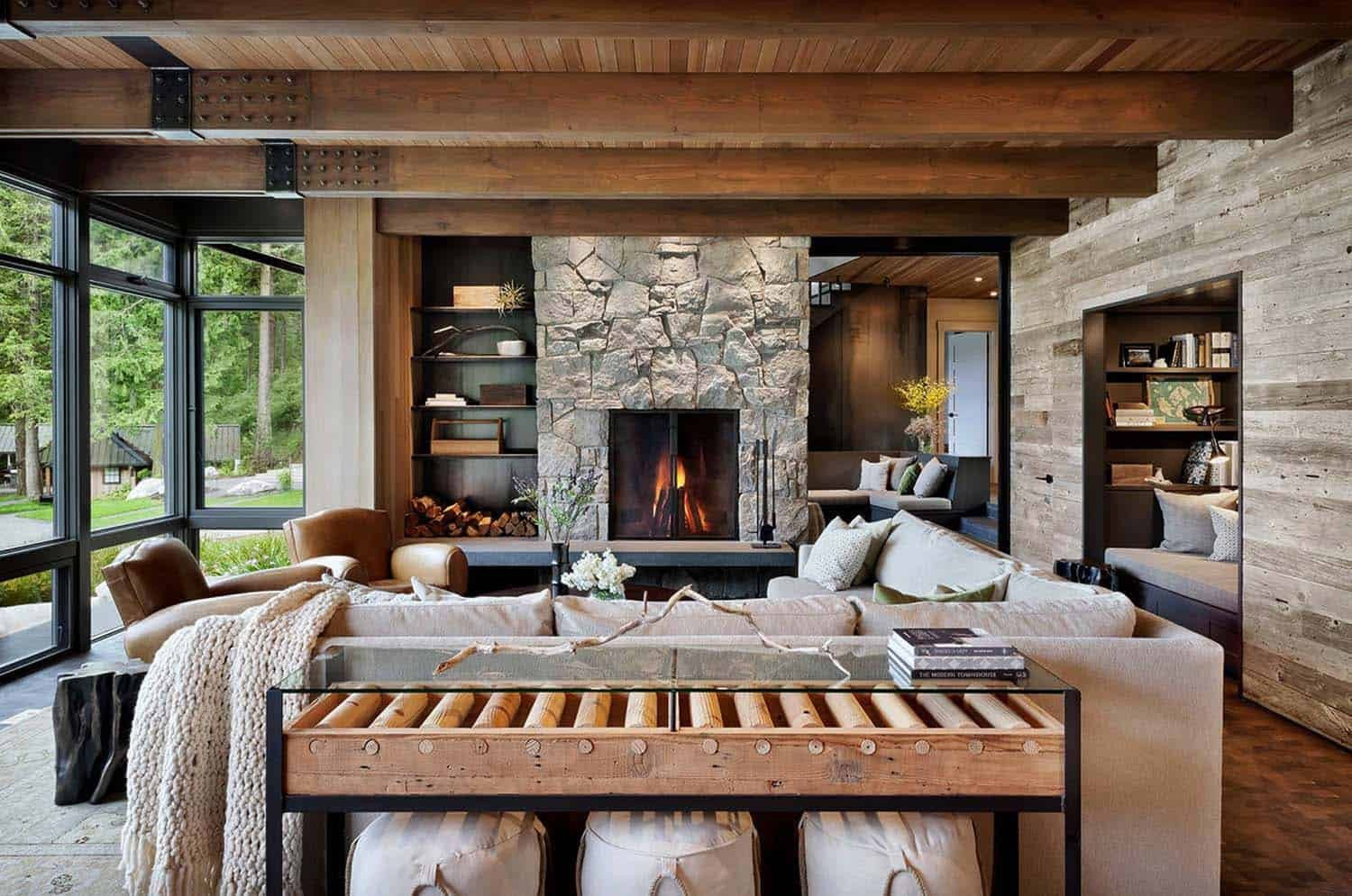 Contemporary Rustic Living Room Modern Rustic Retreat Designed to Feel Like A Summer Camp