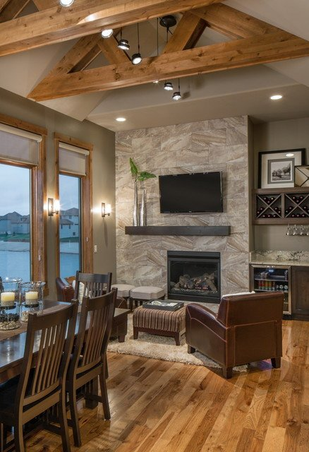 Contemporary Rustic Living Room Rustic Modern Lake House Transitional Living Room