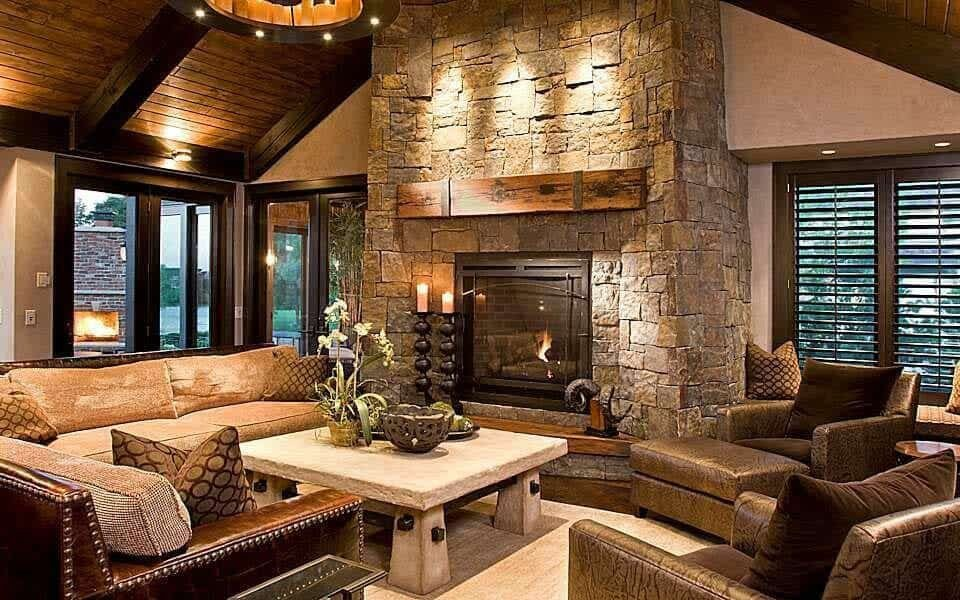 Contemporary Rustic Living Room Take A Peek Inside This Stunning Modern Rustic Minnesota Home