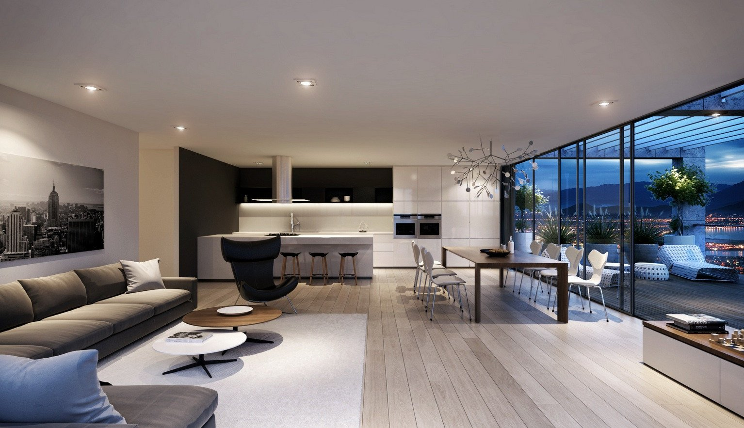 Contemporary Style Living Room 11 Awesome and Trendy Modern Living Room Design Ideas