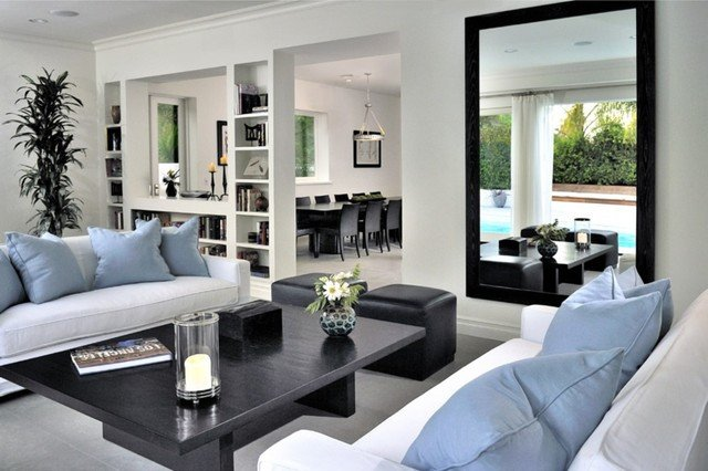 Beverly Hills Contemporary traditional living room los angeles