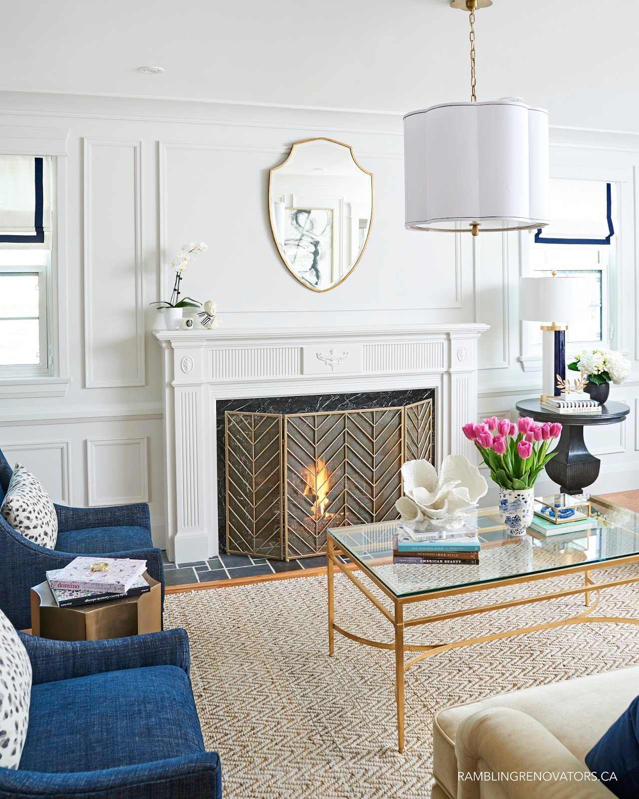 Contemporary Traditional Living Room Peace Love & Design by Candelabra