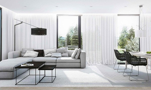 Contemporary White Living Room 15 Modern White and Gray Living Room Ideas
