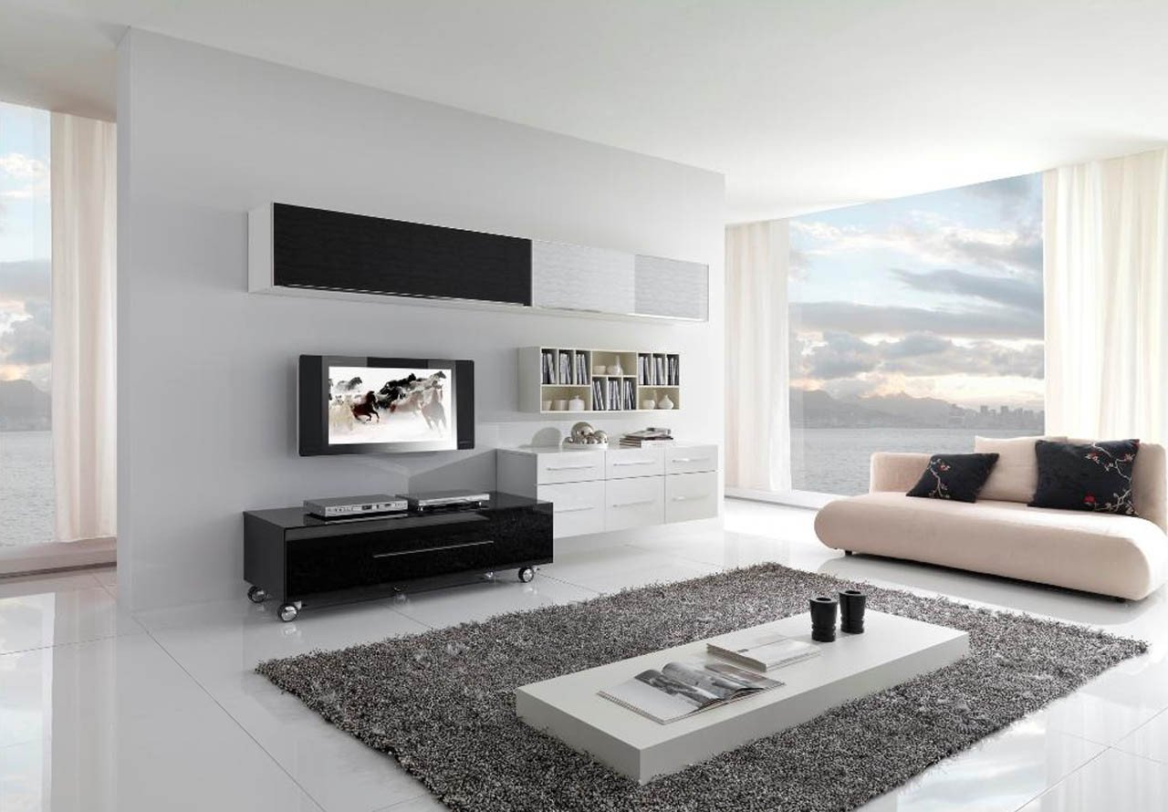 Contemporary White Living Room 17 Inspiring Wonderful Black and White Contemporary