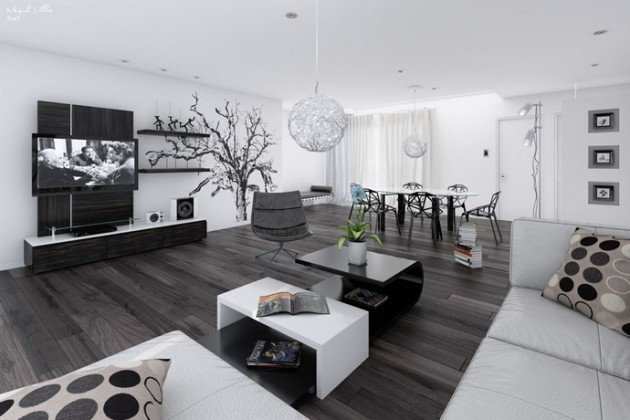 Contemporary White Living Room 20 Wonderful Black and White Contemporary Living Room Designs