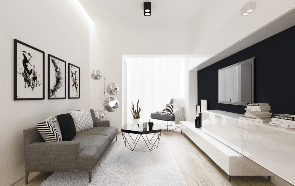 Contemporary White Living Room 21 Modern Living Room Design Ideas