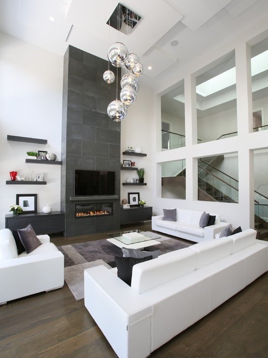Contemporary White Living Room 80 Ideas for Contemporary Living Room Designs