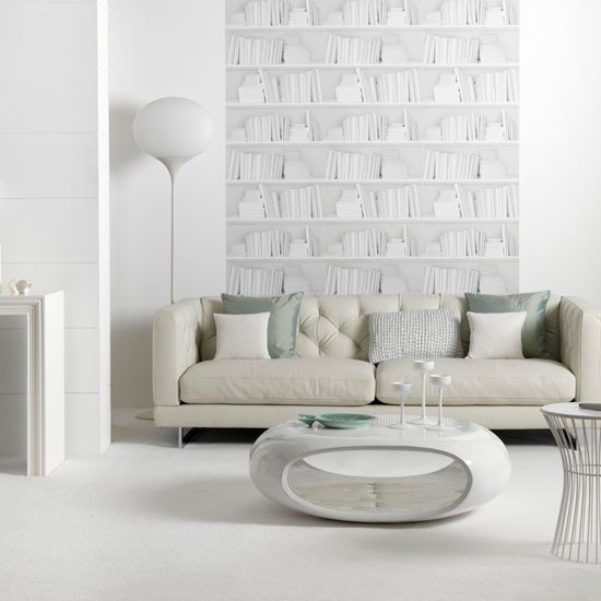 Contemporary White Living Room Contemporary White Living Room
