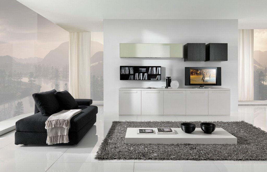 Contemporary White Living Room Modern Black and White Furniture for Living Room From