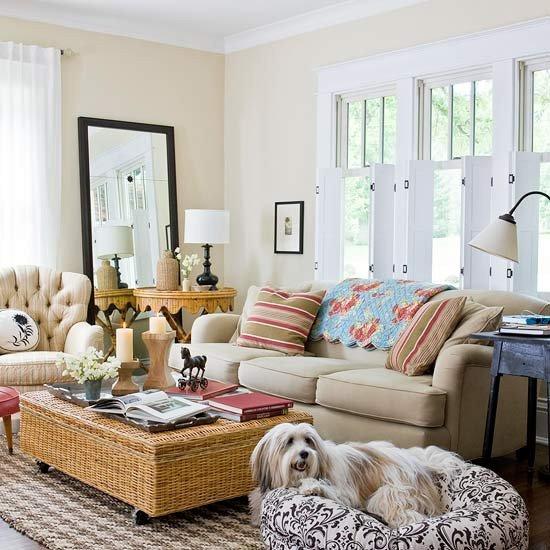 2013 cottage living room decorating