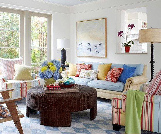 Cottage Living Roomdecorating Ideas Modern Furniture Colorful Living Rooms Decorating Ideas 2012