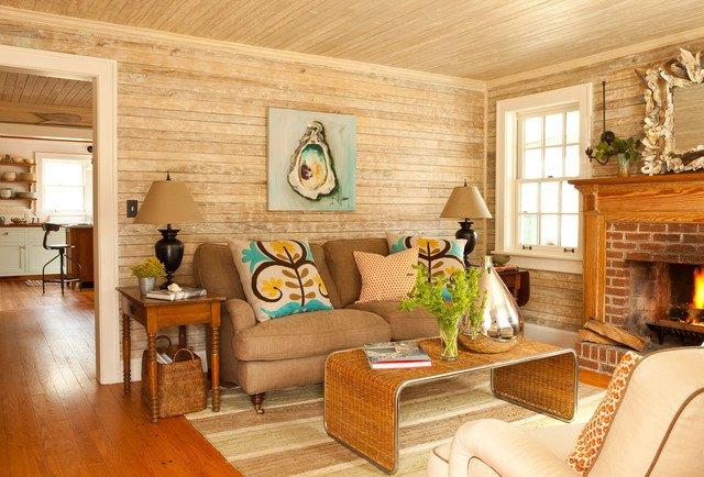 Cottage Traditional Living Room ford Caretaker S Cottage Renovation Traditional Living