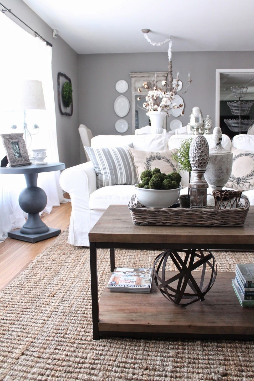 Country Chic Living Room Decor House tour French Country Style