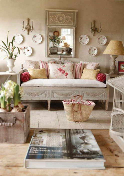 Country Chic Living Room Decor My Heritage Home Shabby White Light Living Rooms