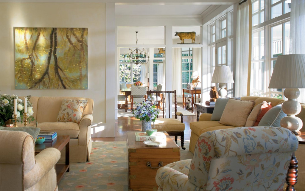 Country Comfortable Living Room Hamptons Country Home Home Bunch Interior Design Ideas