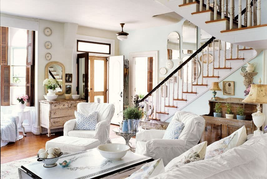 Country Comfortable Living Room Home Inspiration Cozy Family Rooms and Bedrooms Burlap