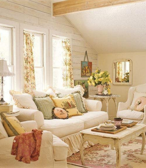 Country themed Living Room Decor La Décoration D Une Salon Shabby Chic