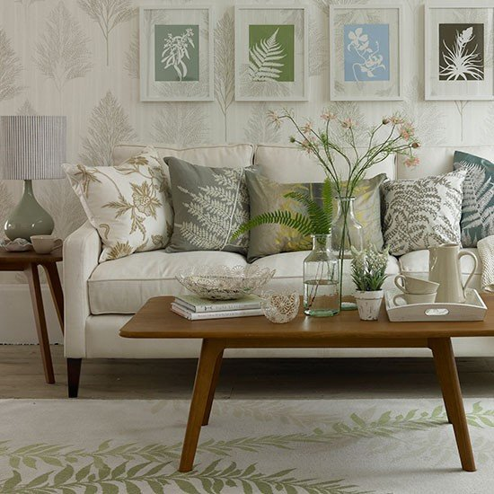 Country themed Living Room Decor Leaf themed Living Room