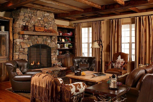 Country themed Living Room Decor north Carolina Country Style Residence Traditional