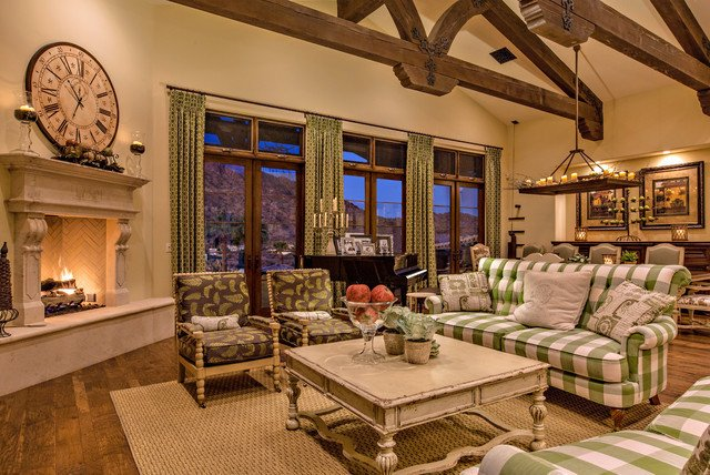 Country Traditional Living Room Arcadia French Country