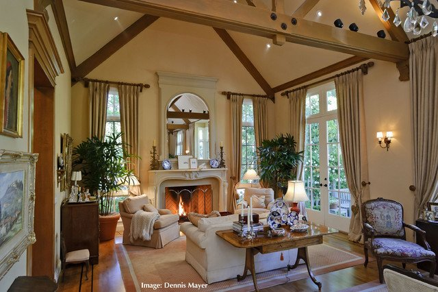 Country Traditional Living Room French Country Style Home Extreme Remodel 9316