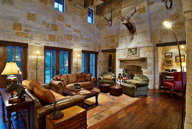 Country Traditional Living Room Hill Country Ranch Living Room Traditional Living Room