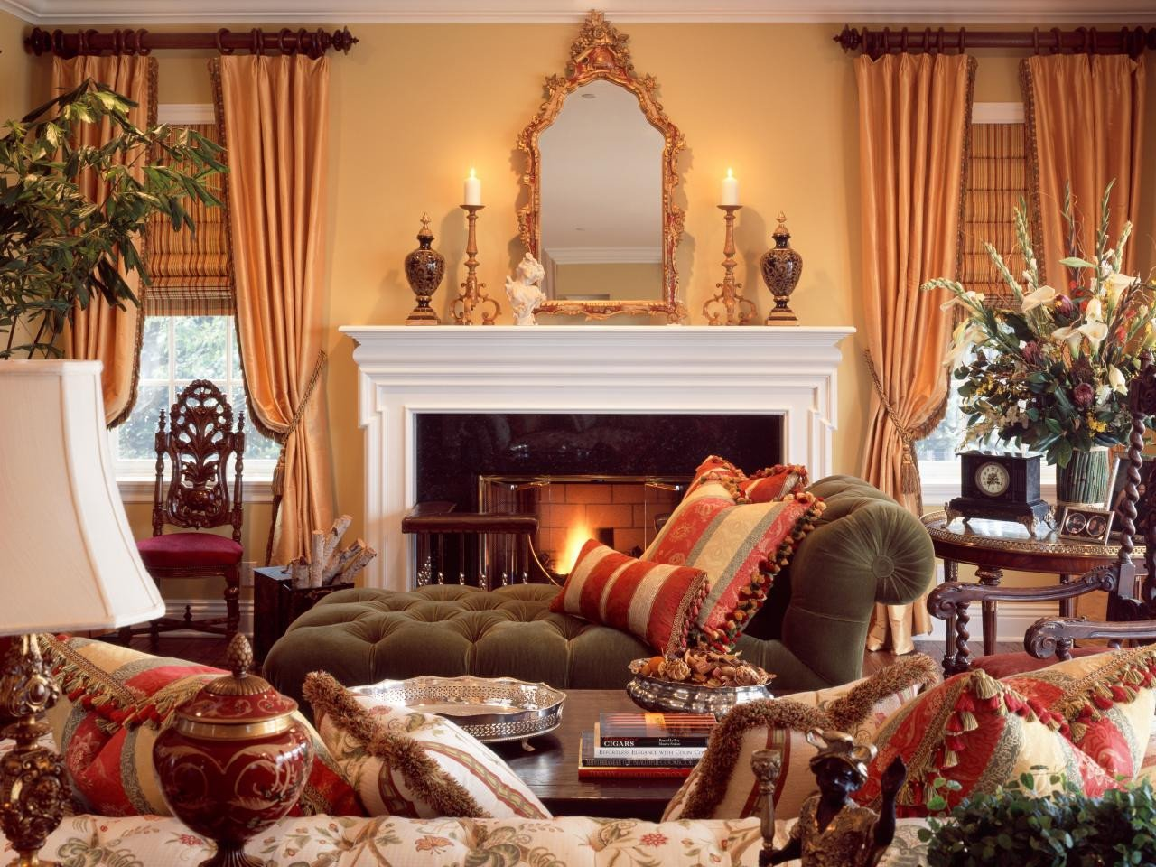 Country Traditional Living Room Traditional Style 101 From Hgtv
