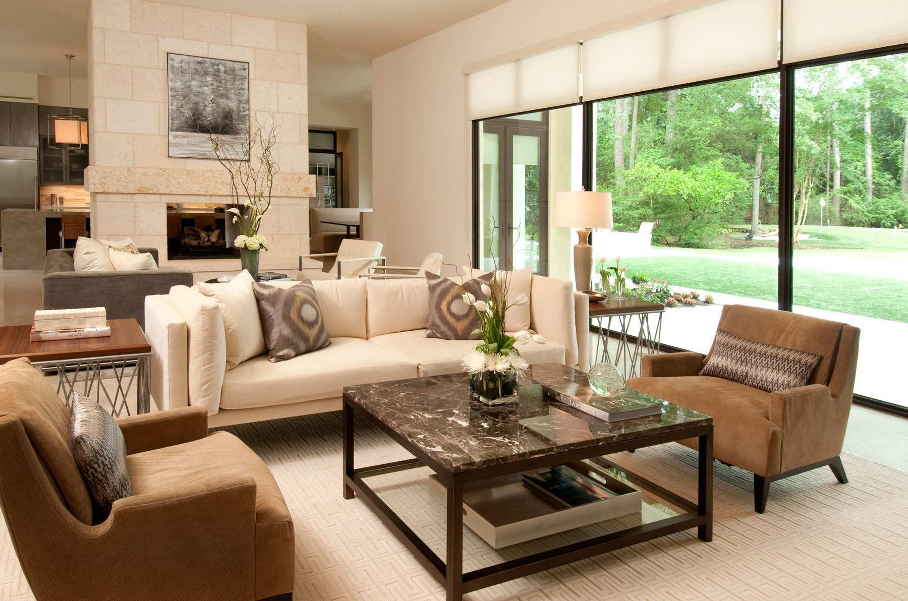 Cozy Comfortable Living Room Cozy and fortable American Living Room Interior 8001
