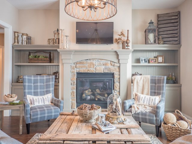 Cozy Traditional Living Room Cozy Cottage