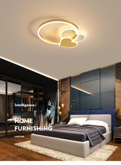 Cute Light for Bedroom Cute Ceiling Light Led Heart Acrylic Round Ceiling Light for Children Bedroom