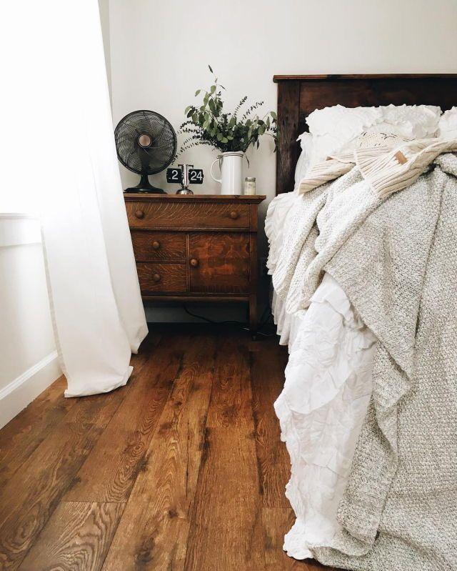 Dark Wood Bedroom Furniture Decor Relaxed Neutral Bedroom with Dark Wooden Floors Wooden