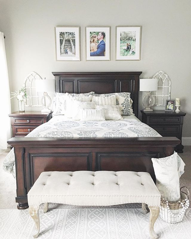 Dark Wood Bedroom Furniture Decor This Bedroom is Full Of Farmhouse Charm Thanks for Sharing