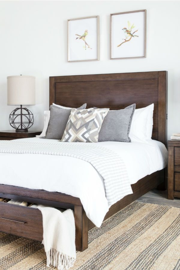 Dark Wood Bedroom Furniture Decor Wood Bed with Storage Add Character and order to Your