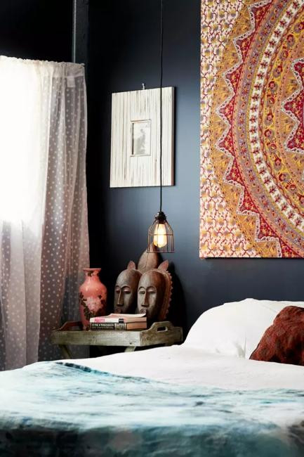 Decor Ideas for Bedroom Wall Bedroom Decorating with Black Wallpaper 2 Modern Wall